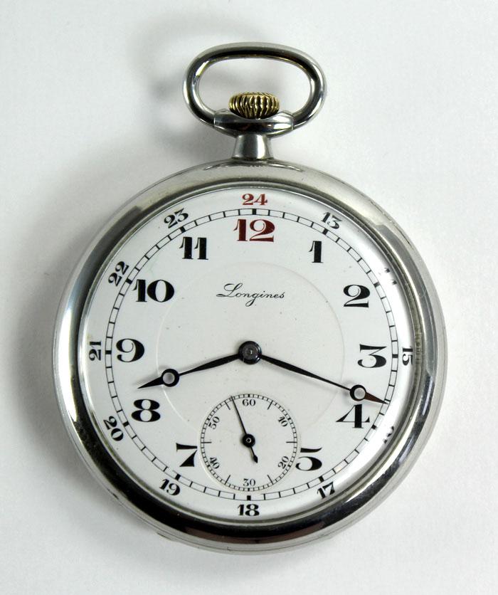 Bildschöne Longines Antike Swiss Frackuhr Taschenuhr Pocket Watch 1937 Taschenuhren