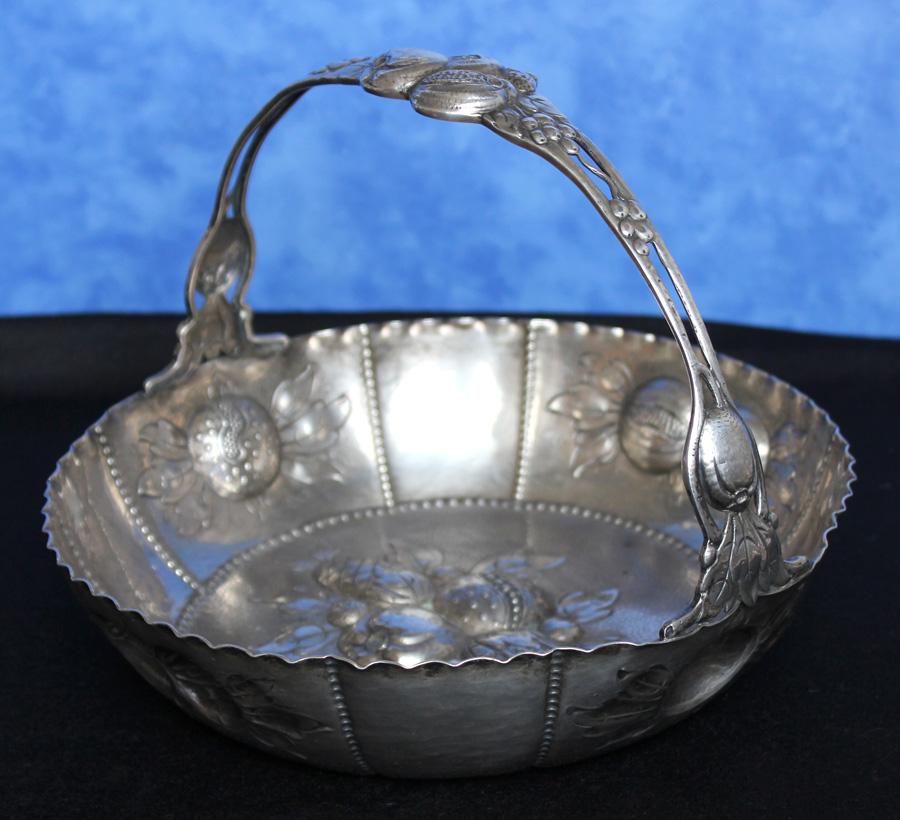Schöner Flaschenuntersetzer 800 Silber Italien 80 Gramm