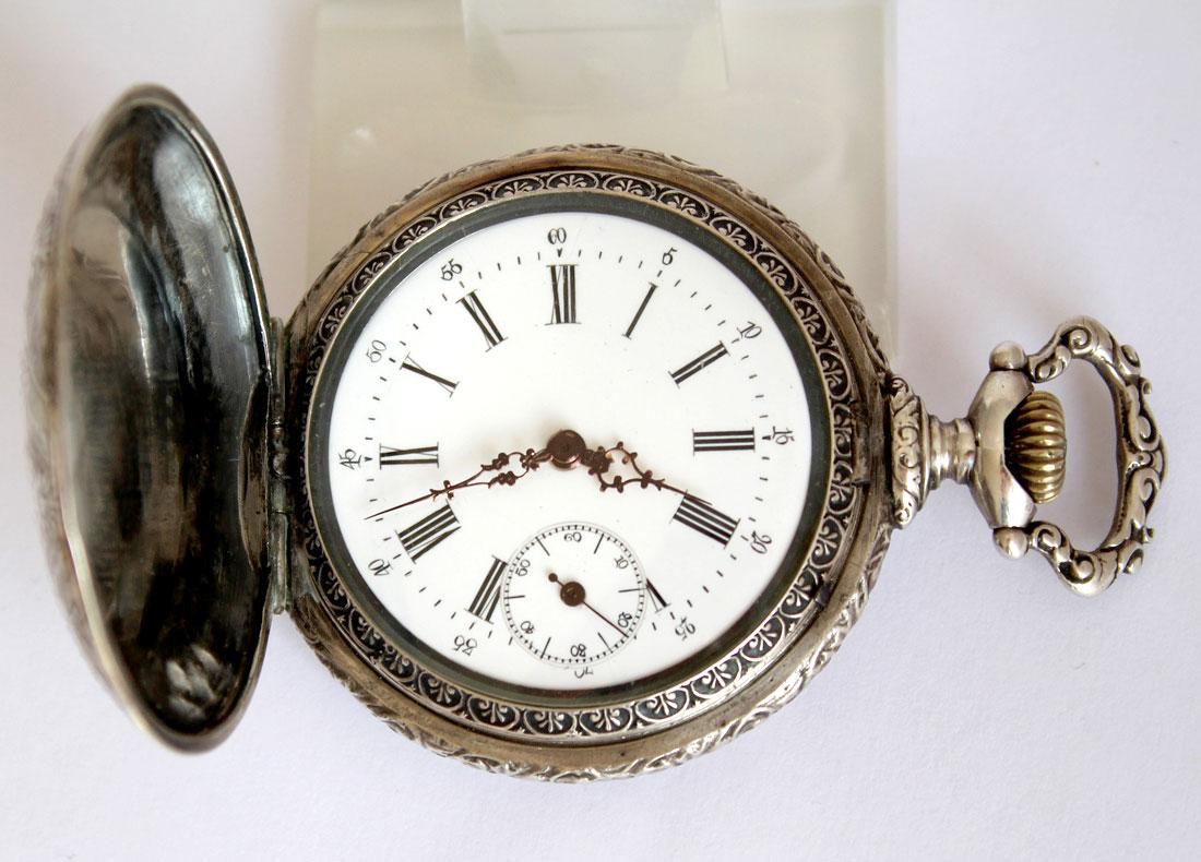 Armband- & Taschenuhren Sonstige Heiliger Georg Hochfeine Prunk Hochrelief Swiss Antike Taschenuhr Savonette 1910